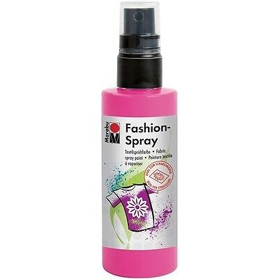 Marabu Textilsprühfarbe Fashion-Spray, schwarz, 100 ml Textilfarbe Stoffmalfarbe
