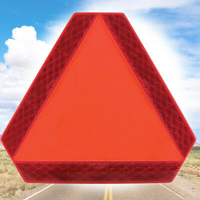 Reflective Triangle Car Roadside Safety Signal Slow Moving Vehicle Warning Sign