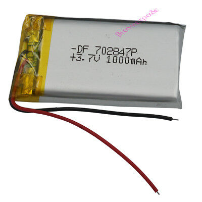 3.7V 1000mAh  rechargeable Polymer Li Lithium Cell For Mp3 GPS Tablet PC 702847