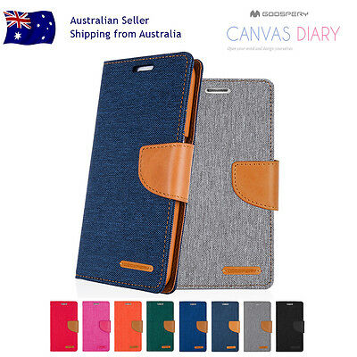 Samsung Note 8/5/4/3 S8/Plus S7/Edge S6/5 Mercury Leather Card Wallet Case Cover