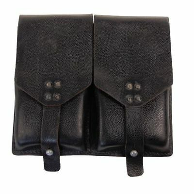 Vintage army surplus all leather StG58 double ammo pouch