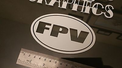 FPV Oval vinyl Sticker Decal, DJI Phantom RC Drone racer Case Inspire racer