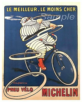 VINTAGE 1926 MICHELIN MAN FROM FRANCE AD POSTER PRINT 24x16 9 MIL PAPER