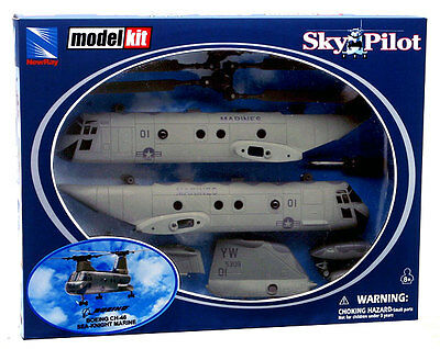 New Ray Elicottero Boeing Ch-46 Sea Knight Marine In Kit Scala 1:55 Art. 25895