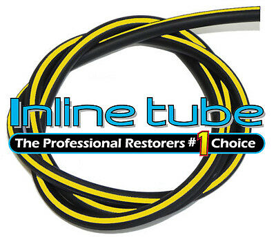 1964-81 GM Vacuum Engine Hose Ribbed Yellow Stripe 5/32 3 ribs SOLD BY THE FOOT
