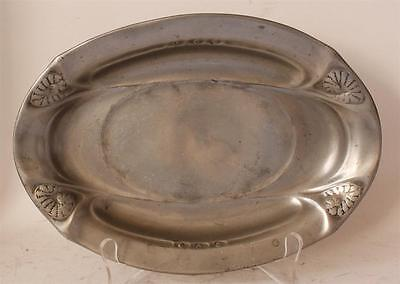 Antique Art Nouveau/Jugendstil Tray Kayserzinn Hugo Leven Design #4555 ca.1900