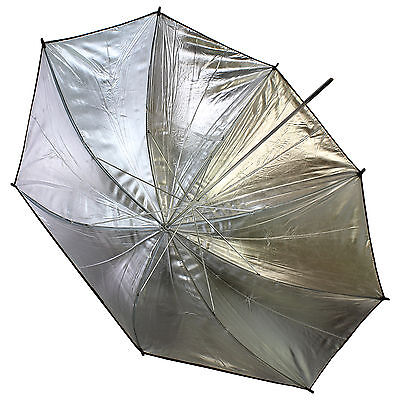 "43"" 110cm Black Silver Reflective Photograph Studio Umbrella for Camera Speedlit"