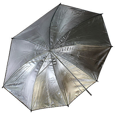 "FREE SHIP ~ 43"" 110cm Black Silver Reflective Portrait Umbrella Studio Reflector"