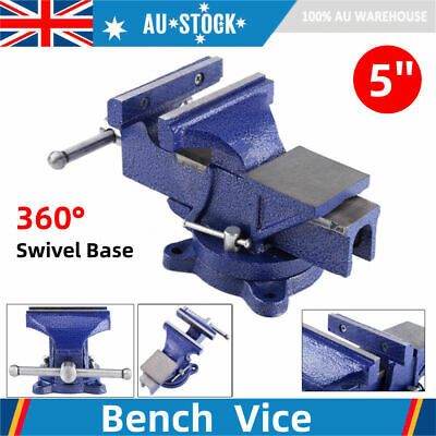 """5"""" 5inch Cast Iron Heavy Duty Bench Vise Clamp Milling Metalworking Workshop AU"""