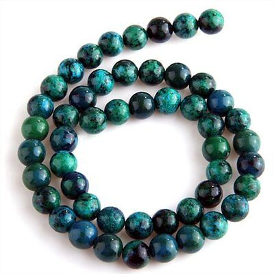 Chrysocolla Round Gem Gemstone Loose Beads 8mm Strand HOT LW