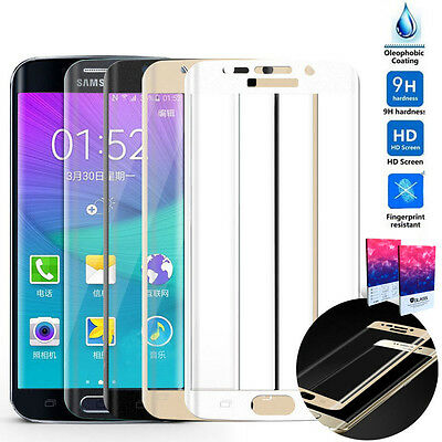 Full Coverage Tempered Glass Screen Protector Samsung Galaxy S7 S6 Edge Note 7