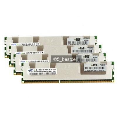 New Samsung 16GB 4X4GB 2RX4 DDR3-1333MHz PC3-10600R ECC RDIMM REG Server ram