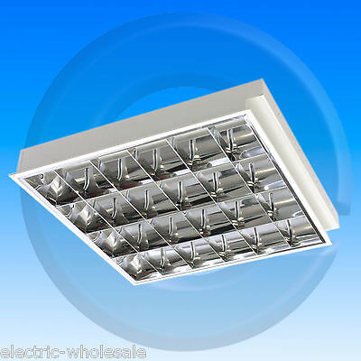 recessed modular panel light 4x18w t8 lay in fitting cat 2 600x600 suspended cat 2 office lighting