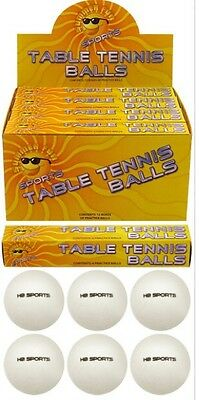 12x Table Tennis Balls White Ping Pong Sport Tournament indoor outdoor UK