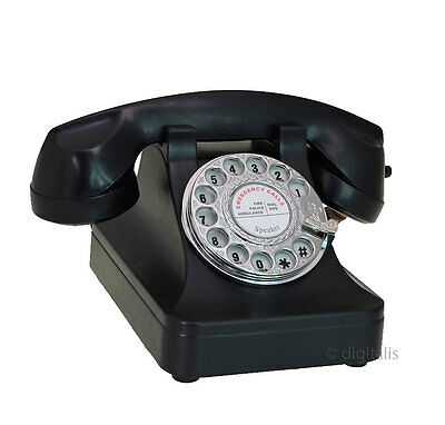Steepletone Retro 1940s Telephone Working Rotary Dial Deal or No Deal Style NEW