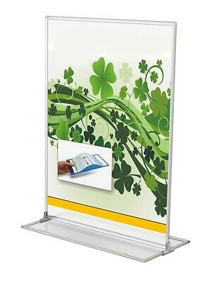 NEW | acrylic universal stand poster holder menu leaflet display | A6 A5 A4