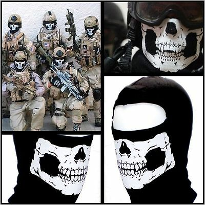 Cycling Bicycle Motorcycle Biker Full Face Mask Cover Helmet Skull Soldier TDR