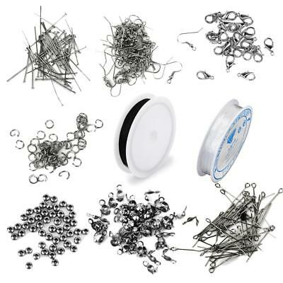 Findings Kit Jewelry Making Components Starter Kits Tools Cords Charms Beads