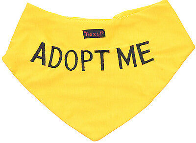 Adopt Me Best Dog Bandana Pet Neckerchief Scarf Personalised Embroidered Message