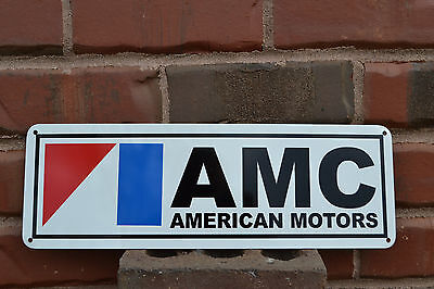 AMC Sign AMX GREMLIN JAVELIN American Motors Pacer Garage Mechanic 71 72 SIGN
