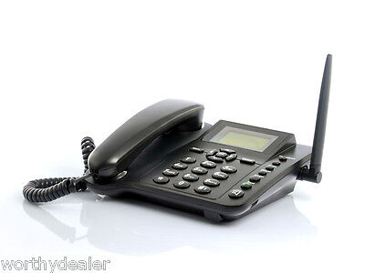 Wireless SIM Operated Desk Phone mobile SMS quad band handset cell GSM with text