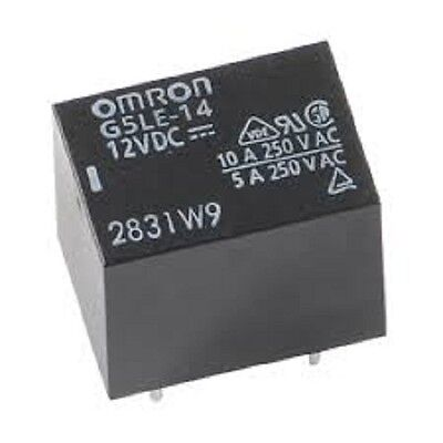 Omron G5LE-14-DC12  Relay, 10A, 12V, PCB mount - Lot of 3 (28B175)