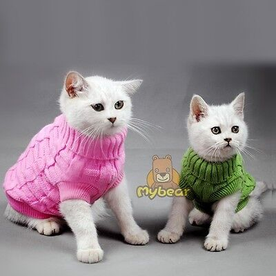 NEW Spagetti Color Warm Cat Sweater Pet Jumper Cat Clothes For Small Cat Pets