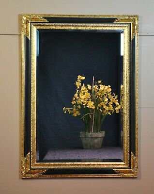 """""""FLORENCE"""" WALL MIRROR """"ANTIQUE""""GOLD + BLACK-ITALIANATE-ornate victorian-GOTHIC"""