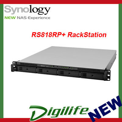 Synology RS818RP+ RackStation 4-Bay Scalable NAS with Redundant Power PSU
