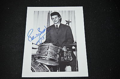 PETE BEST signed Autogramm 20x25 cm In Person THE BEATLES