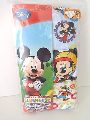 Disney Mickey Mouse Toddler Boys Brief Underwear 3 Pack 2T/3T