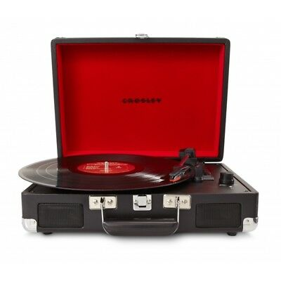 Crosley Cruiser Retro Vinyl Record Player Turntable - Black