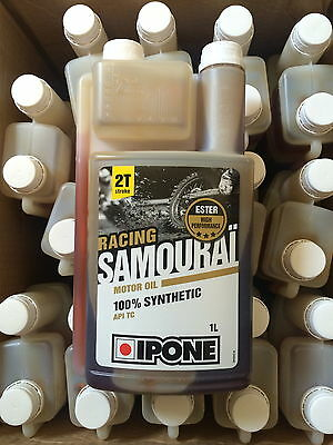 Huile Ipone Samourai Racing 100% Synthese Ester Moto Cross 2 Temps 1 Litres