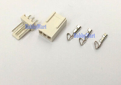 2510 2.54mm 3-Pin Male Female Connector PCB Socket and crimps x 10 sets