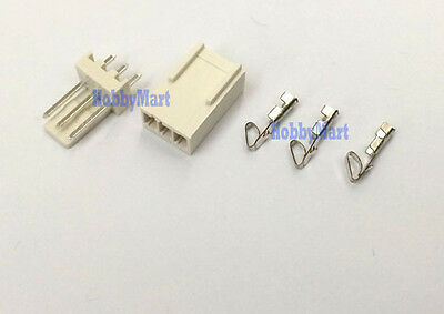 2510 2.54mm 3-Pin Male Header Female Connector PCB Socket and crimps x 10 sets
