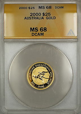 2000 Australia Nugget $25 Dollar Gold Coin ANACS MS-68 DCAM *GEM* SB