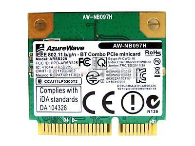 AR5B225 Bluetooth 4.0 half Mini PCI-E 150M 802.11B/G/N WIFI Wireles Card Atheros