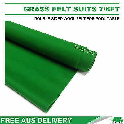 Grass Double-Sided Wool Pool Table Cloth / Felt Suits 7Ft 8Ft Frfe Au Postage