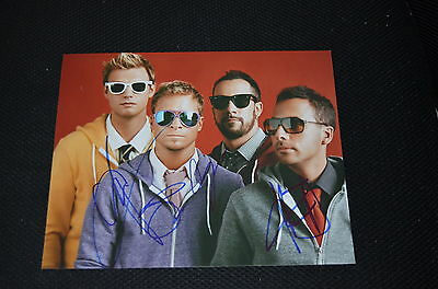 BACKSTREET BOYS signed Autogramm 20x25 cm In Person NICK , HOWIE , AJ , BRIAN