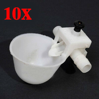 10pcs Pet Drinking Chicken Bird Automatic Water Watering Cup Feeder Drinker