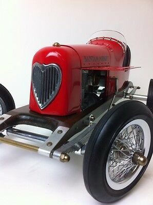 "Aluminum Model 1930s Tether Car Replica Spindizzy 19"" Bantam Midget in Red"