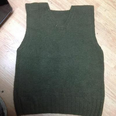 Vintage WWII WW2 AMERICAN RED CROSS Military Wool Sweater Vest