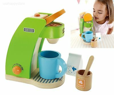 HAPE COFFEE MAKER Pretend Play Kitchen Toys Set Wooden ...