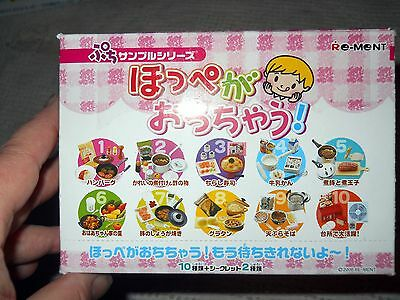 2006 Rare Re-Ment Almost Full Set of 10 - #054 Yummy Meals,or Children's Kitchen