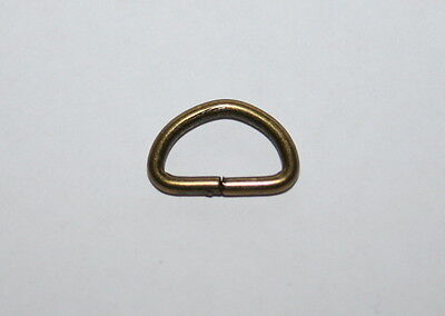 10 mm Bronze Metal D Rings PK4- NEW
