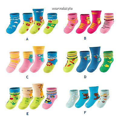 Newborn Baby Girls Boys Multicoloured Socks age 0-12 months SET of 3 pairs