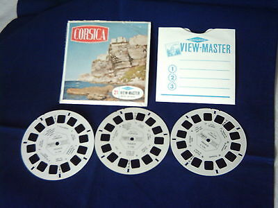 Vintage View-Master Reel Set of 3. Corsica  C173.