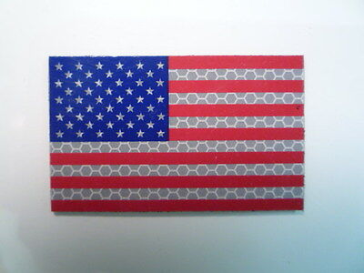 """Fwd Usa Patch Solas+Red+Blue 3 1/2""""x2 1/8"""" Coll#337 With Velcro® Brand Fastener"""