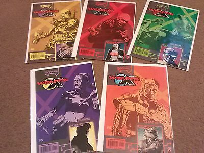 Weapon X: The Draft #1 Wolverine, Kane, Marrow,Sauron, Wild Child 5 Comic Lot