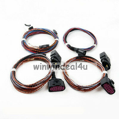 VW Headlight Xenon Cornering AFS Wire Harness For VW Golf 6 GTI 10 to 14 Adapter